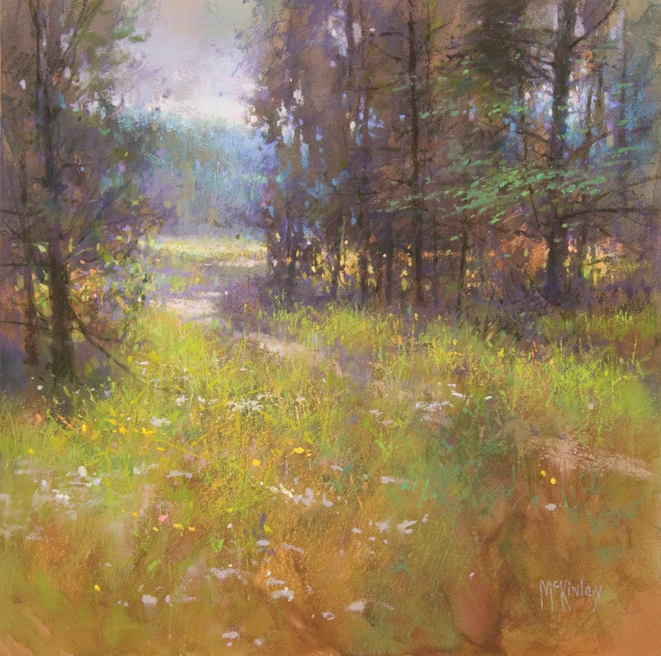 Deschutes Trail, pastel, 12 x 12.