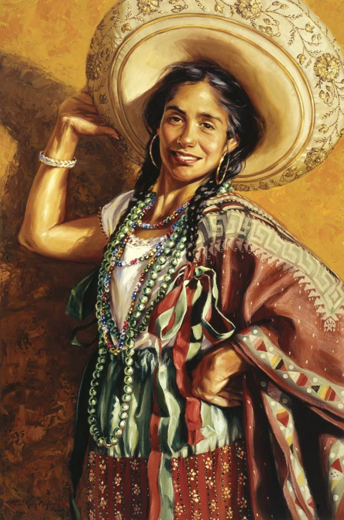 Terri Moyers, Hola, oil, 36 x 24.