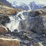 Terri Moyers, Victoria Falls, oil, 48 x 48.