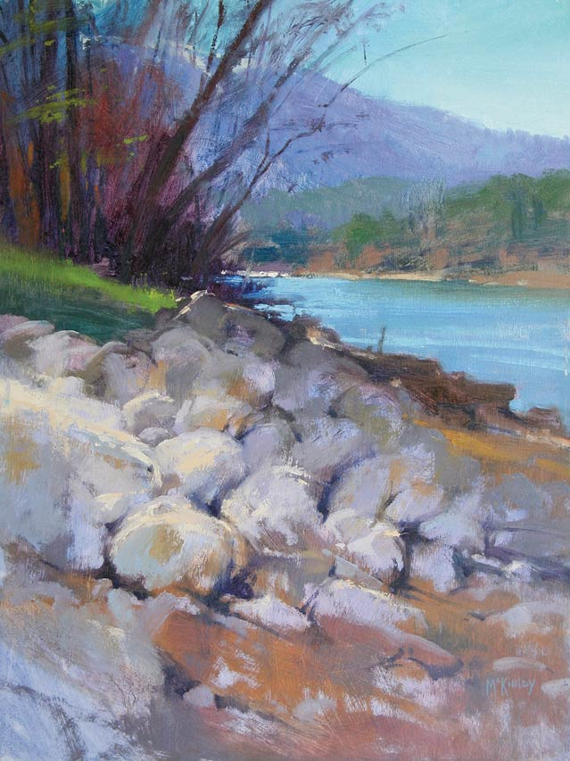 Along the Sacramento, oil, 16 x 12.