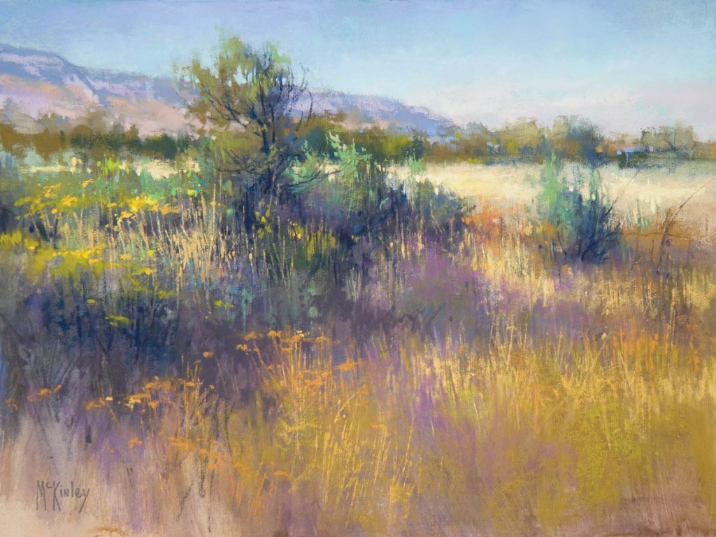 Evening at the Malheur, pastel, 12 x 16.