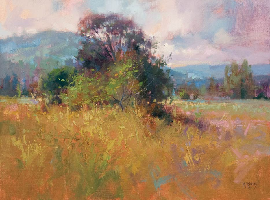 Textures of Summer, oil, 12 x 16.