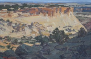 2012 Best of Show winner: Susette Gertsch, Looking West Over Spencer Flats, oil, 20 x 30.