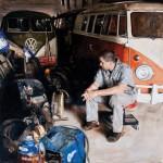 Santiago Michalek, It's Time, oil, 48 x 48.
