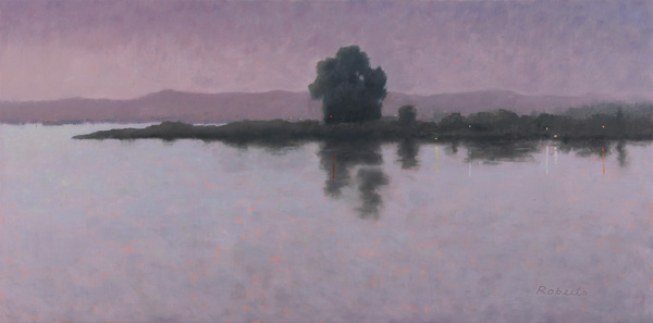 Mark Roberts, Delta Nocturne 1, oil, 24 x 48.
