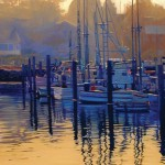 Tom Swimm, Harbor Daybreak, oil, 36 x 24.