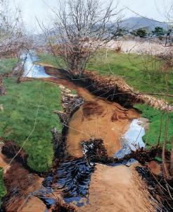 William C. Wright | Jones Falls in April II