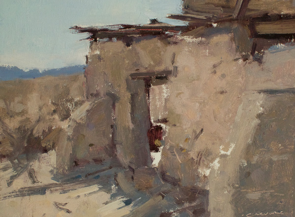 Jil Carver, Desert View, oil, 9 x 12.