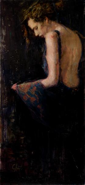 Wanda Choate, Cashmere, oil, 24 x 11.
