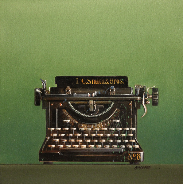 Wendy Chidester, LC Smith No. 8, oil, 16 x 16.