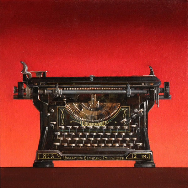 Wendy Chidester, Underwood No. 3, oil, 16 x 16.