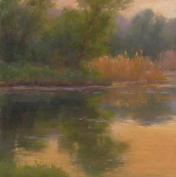 D. LaRue Mahlke, April Late Afternoon, pastel, 6 x 6.