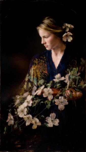 Wanda Choate, The Dogwood Crown, oil, 22 x 32.
