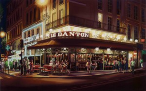 Susan Driscoll, Le Danton, oil, 30 x 48.