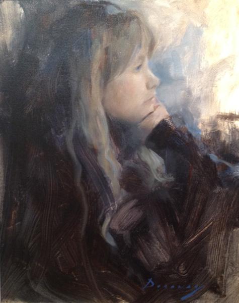 Michelle Dunaway, Autumn Daydreams, oil, 16 x 20.