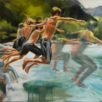 Nicole Finger, The Plunge, oil, 36 x 48.