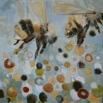 Britt Freda, B Squared, acrylic/graphite, 12 x 12.