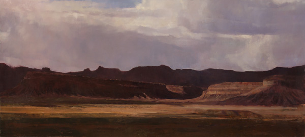 Douglas Fryer, Vermillion Cliffs, oil, 27 x 60.