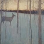David Grossmann, Across the Dusk and Winter, oil, 12 x 16 .