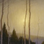 David Grossmann, Lowering Sun, oil, 14 x 24.