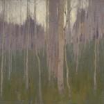 David Grossmann, Through the Aspen Stand, oil, 12 x 16.