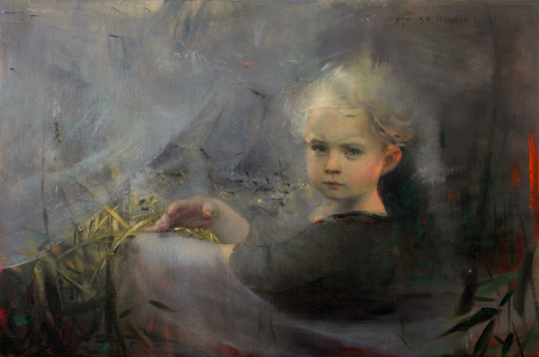 Stanka Kordic Lift the Veil, oil, 20 x 30.