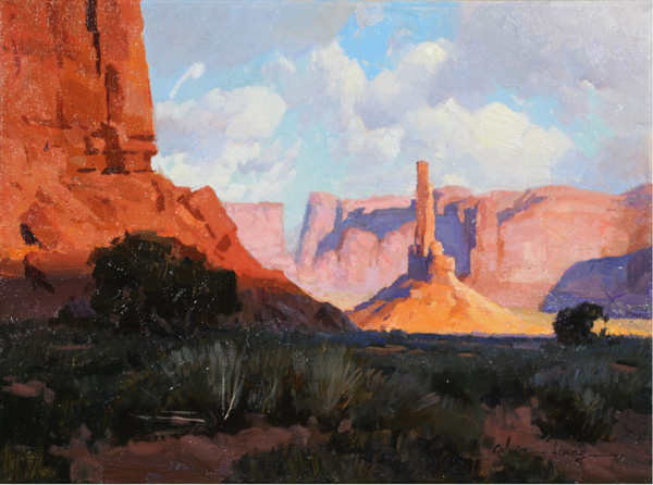 Calvin Liang, Canyon Shadows, oil, 12 x 16.