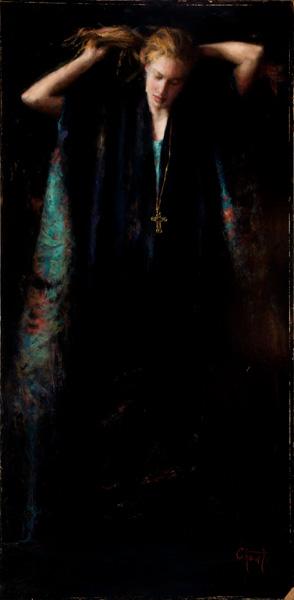 Wanda Choate, Magdalene, oil, 38 x 20.
