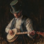 Wanda Choate, Music Man, oil, 23 x 28.