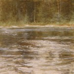 Pem Dunn, Ripples on the Stream, oil, 8 x 8.