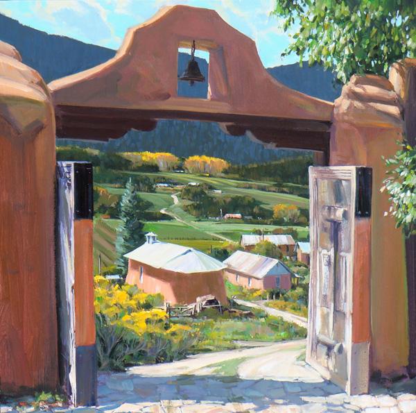 William Hook, Rear Window, acrylic, 30 x 30.