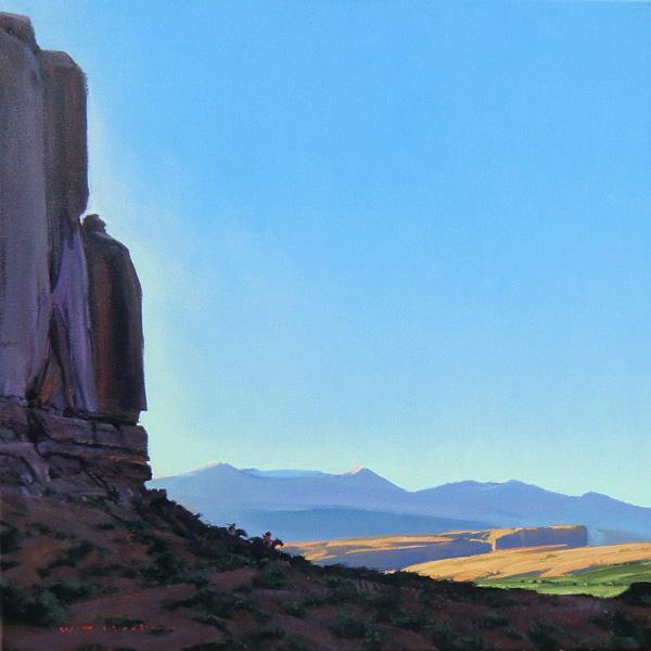 William Hook, Rock Riders, acrylic, 24 x 24.