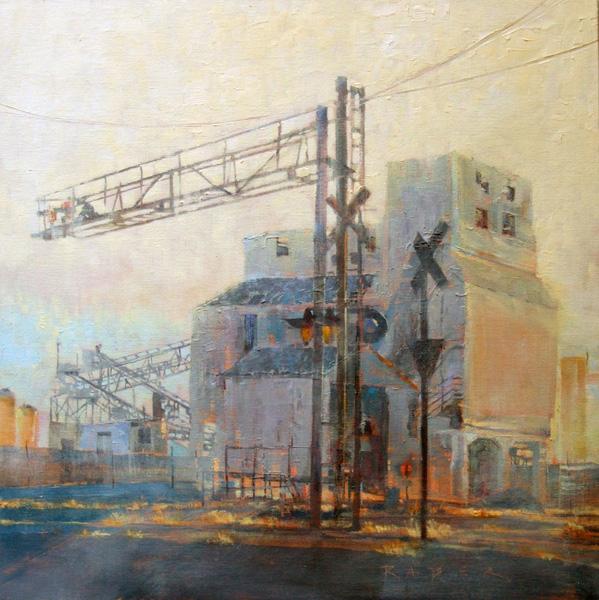 April Raber, Monolith, oil, 14 x 14.