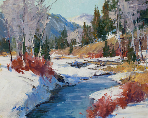 Tim Deibler, Winter Chill, oil, 8 x 10.
