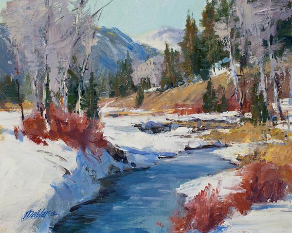 Tim Deibler, Winter Chill, oil, 8 x 10.