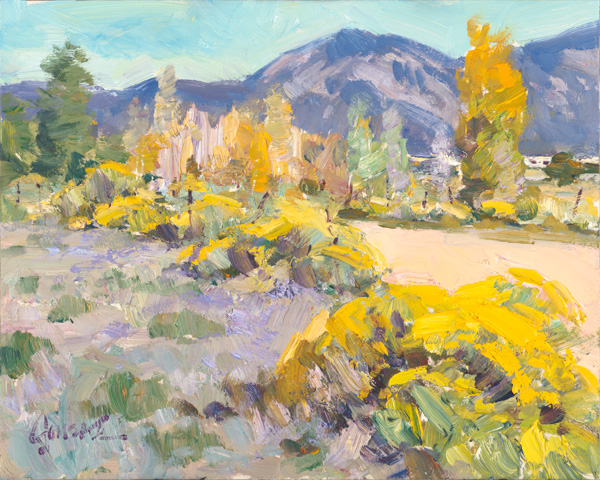 Walt Gonske, A Change of Season, oil, 8 x 10.