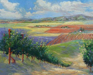 Teresa Onoda, Exploring Napa, oil, 42 x 52.