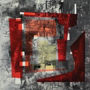 Carol Schinkel, Transparency, acrylic, 30 x 30.