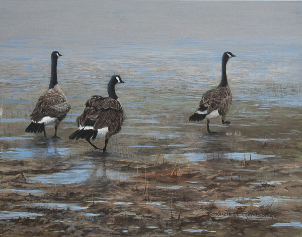 Suzie Seerey-Lester, Shore Patrol, acrylic, 11 x 14.