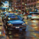 Desmond O'Hagan, 15th and Wazee, Denver, pastel, 16 x 20.