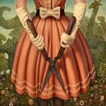 Danny Galieote, Clandestine Persuasion, oil, 40 x 40, Arcadia Gallery.