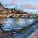 Desmond O'Hagan, Early Evening on the Seine, Paris, pastel, 12 x 16.