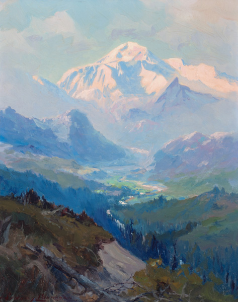 Laurence Sydney (1865-1940), Mt. McKinley, Jackson Hole Art Auction.