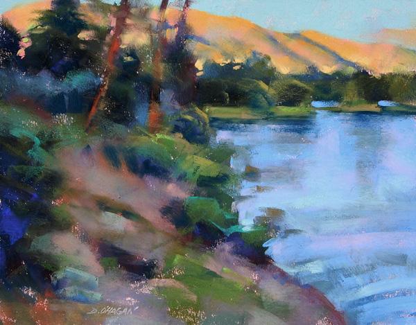 Desmond O'Hagan, Lake Dillon #1, pastel, 11 x 14.