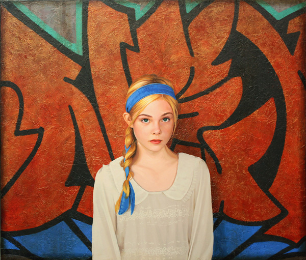 Kevin Peterson, Angel, oil on panel, 36 x 30.