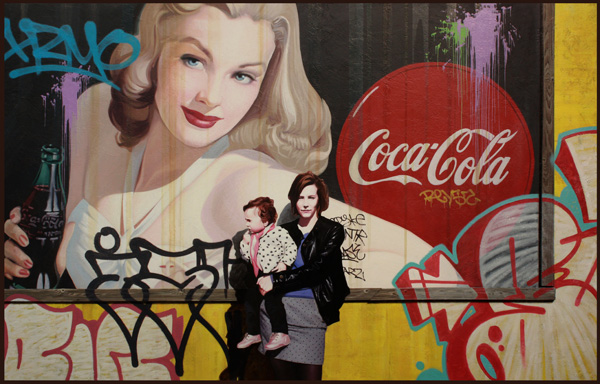Kevin Peterson, Enjoy Coke, oil, 32 x 50.