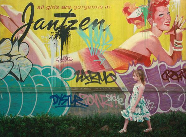 Kevin Peterson, Jantzen, oil, 30 x 40.