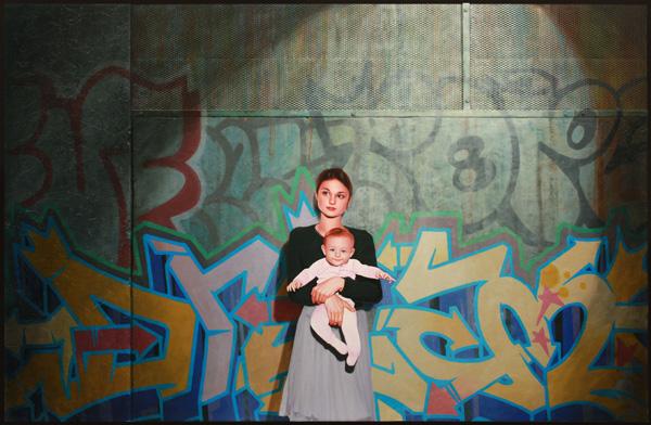 Kevin Peterson, Street Light, oil, 47 x 71.