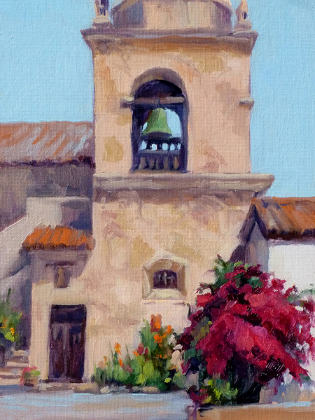 Julia Munger Seelos, Founders Day Celebration, oil, 9 x 12.