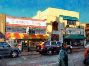 Desmond O'Hagan, Sunset, Santa Fe, oil, 36 x 48.
